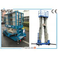 Buy cheap Multi Mast Mobile Elevating Work Platform Vertical Mast Lift For Single Man from wholesalers