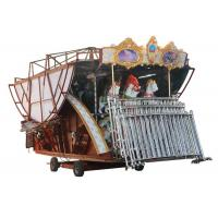 Non Fading Color Carousel Horse Ride With Colorful Led Lamps For Night Operation