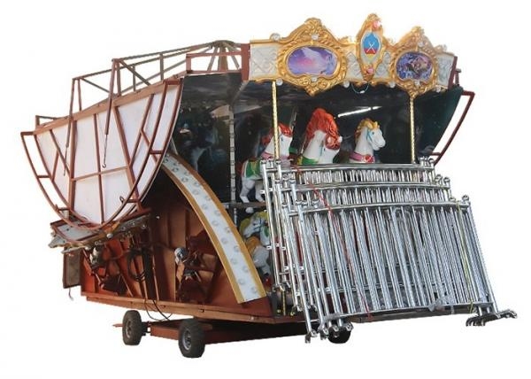 Quality Non Fading Color Carousel Horse Ride With Colorful Led Lamps For Night Operation for sale