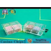 Playing Cards Discard Holder With Lock , Casino 8 Decks Acrylic Clear Security Box