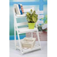 China 3 Tiers Wooden Outdoor Furniture Flower Pot Stand Foldable 2.9KG For Roomy Storage wholesale