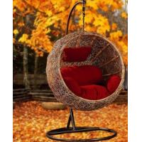China WHOLESALE Rattan bird nest hanging basket hanging chair indoor outdoor swing rocking chair hammock on sale