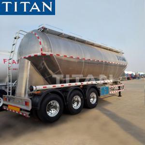 China Titan Food Grade 42 Cbm Aluminium Wheat Flour Bulk Tanker Semi Trailer on sale
