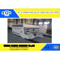 Buy cheap Carton box making Flexo Printing slotter  Machine With 100 Pieces / Min Max Speed , High Efficiency from wholesalers