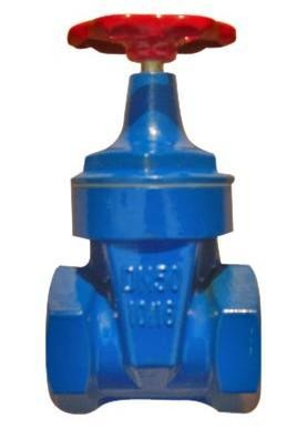 Quality Small Size Metal Resilient Seated Gate Valve For Water Meter With Thread End DN 25 for sale