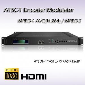 China Four-Channel HD-SDI TO ATSC MPEG-2/H.264 Encoding Modulator REM7004 on sale