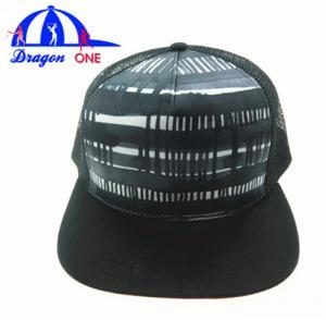 China 5 Panel Custom Snapback Hats , Customized Adults Flat Peak Mesh Trucker Caps on sale