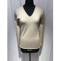 China Custom Black / Yellow / Grey Pullover Sweater , Womens Navy Cashmere V Neck Sweater on sale