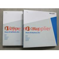 China Original Office 2013 Retail Box Media DVD , Office Home And Business 2013 Multi Functions wholesale
