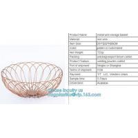 China Hanging Metal black Wire Mesh Fruit Storage Basket, Stainless Steel Wire Mesh Containers Metal Mesh Kitchen Vegetable St on sale