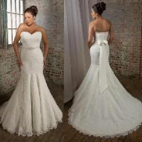 China Strapless Sweetheart Mermaid Plus Size Bridal Dress (PS0032) wholesale