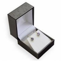 China White Flocked Jewelry Plastic Box Stable Performance 47x52x38mm Size Or Customized on sale