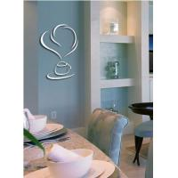 Best selling simple mirror PS wall decal 1MM thickness 3D mirror stickers home decoration