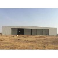 China Light Metal Frame Structure Steel Structure Hangar With Sliding Door wholesale