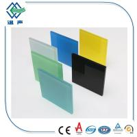 PVB White / Colored Laminated Glass Panels big sheet with 0.38mm 0.76mm