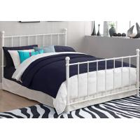China Queen Contemporary Metal Beds Full Size White Wrought Iron Bed Frame wholesale