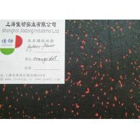 China Recycled Coloured Rubber Flooring Rolls / Rubber Exercise Mats Anti Static wholesale