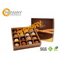 China Gift Paper Chocolate Packaging Boxes Classical Printing / Gloss Film Lamination on sale