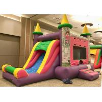 China Commercial Grade Bounce House Slide Combo , Pink Princess Girls Big Bounce House wholesale