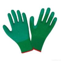 China Seamless 10g 5 Thread T/c Shell, Crinkle Latex Coated Gloves on sale