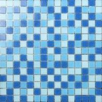 China LAR028 Cheap Glass Mosaic for Swimming Pool Mosaic Bathroom mix blue colours wholesale