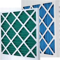 China Customized Paper Frame Pre Air Filter Disposable Pleat Primary Furnace Air Filter Type wholesale