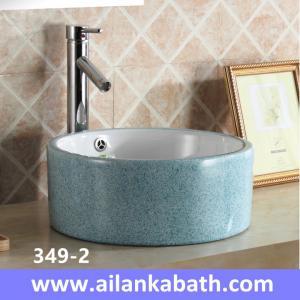 China 2016 new model fashion blue color basin rectangular shape sanitary ware  colorful art basin for bathroom wholesale