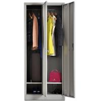 China Dressing Room furniture 2 Door Metal Steel Storage Wardrobe Locker wholesale