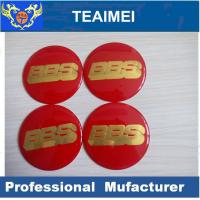 Quality 56mm BBS Car Sticker ABS Plastic Label Sticker With Glass Cement for sale