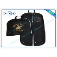 China Black ECO Friendly Non Woven Suit Cover With Zipper And Handle Garment Bag on sale