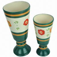 China Long Ceramic Flower Pot/Planter for Gardening, Various Shapes are Available, OEM Orders are Welcome wholesale