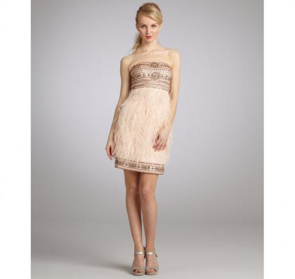 Quality Pink Strapless Satin Womens Club Dresses Beaded Evening Dress for sale