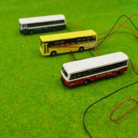 China 1/150 scale model bus Toy Metal Alloy Diecast bus Model Miniature Scale model for train layout scenery wholesale