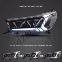 China Clear Lens 4x4 Driving Lights  ,  Toyota Hilux Revo Rocco 2015 LED DRL Projector Head Light wholesale