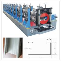 China Hydraulic Punching C Channel Cold Roll Forming Machine 3 Ton Manual Decoiler on sale