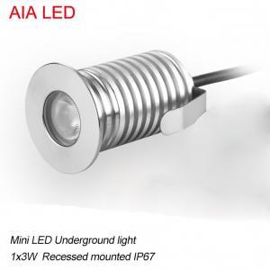 o diodo emissor de luz moderno 1x3W DC12V de AIA waterproof a luz subterrânea conduzida do ponto do diodo emissor de luz IP67 luz exterior