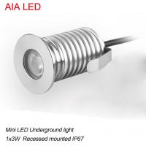 modern AIA LED  1x3W DC12V waterproof IP67 outdoor LED spot light/ led underground light