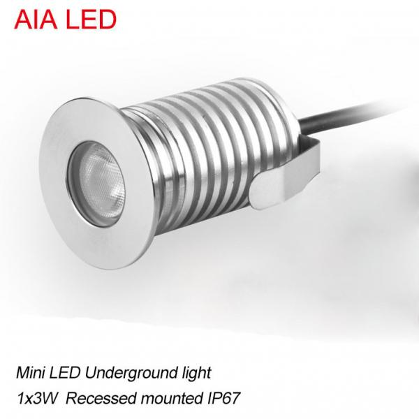 Quality modern AIA LED  1x3W DC12V waterproof IP67 outdoor LED spot light/ led underground light for sale