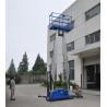 China Dual mast vertical access platform aerial work platform aluminum lift wholesale
