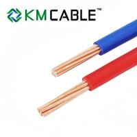 China H07V-K H05V-K House Wiring Electric Single Core PVC Insulated copper wire cable wholesale