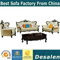 Quality B02 wooden carved Luxury home furniture Royal genuine leather sofa set. 1+2+3 for sale