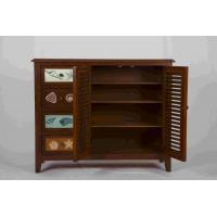 Quality 3 Adjustable Shelves Home Wood Furniture Cabinet With 4 Pattern Storage Drawers for sale