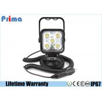 China Portable 15W LED Work Lights With Magnetic Base Cigar Lighter Spot Beam 6000K Cool White wholesale