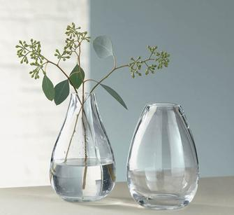 Best selling strong style color b82220 crystal strong flower vase clear and glass vase
