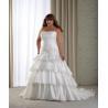 China Strapless Satin Plus Size Bridal Dresses wholesale