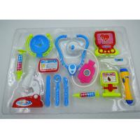 China Role Play Medical Kit Playset Doctor Set Toys For Kids Pink Blue Colors 13 Pcs on sale