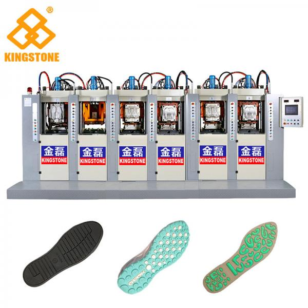 Quality TPU TR PVC Shoe Sole Making Machine 6 Stations With P.I.D. Control System for sale