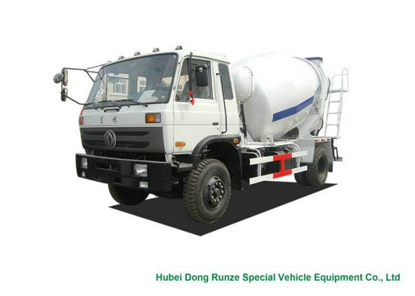 Quality Industrial 4x2 / 4x4 Mobile Concrete Agitator Truck 6 Cbm With 3 Seater for sale