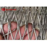 China Ferruled Type Flexible Stainless Steel Wire Rope Bird Aviary Mesh For Zoo wholesale