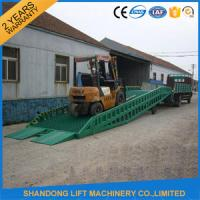 China Adjustable Hydraulic Portable Loading Ramps for Trucks ,  Storage Container Ramps  wholesale